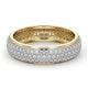 Mens 1ct H/Si Diamond 18K Gold Full Band Ring  IHG55-322JUA - image 3