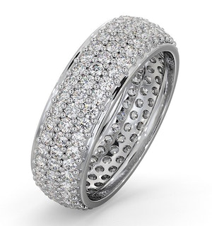Mens 2ct H/Si Diamond Platinum Full Band Ring  IHG55-422JUS