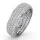 Mens 2ct H/Si Diamond 18K White Gold Full Band Ring  IHG55-422JUY - image 1