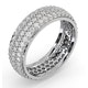 Mens 2ct H/Si Diamond 18K White Gold Full Band Ring  IHG55-422JUY - image 2