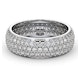 Mens 2ct H/Si Diamond 18K White Gold Full Band Ring  IHG55-422JUY - image 3