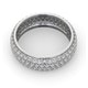 Mens 2ct H/Si Diamond 18K White Gold Full Band Ring  IHG55-422JUY - image 4