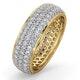 Mens 2ct H/Si Diamond 18K Gold Full Band Ring  IHG55-422JUA - image 1