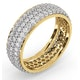 Mens 2ct H/Si Diamond 18K Gold Full Band Ring  IHG55-422JUA - image 2