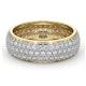 Mens 2ct H/Si Diamond 18K Gold Full Band Ring  IHG55-422JUA - image 3