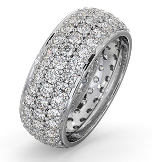 Mens 3ct G/Vs Diamond Platinum Full Band Ring  IHG55-522XUS