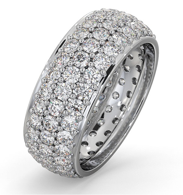 Eternity Ring Sara 18K White Gold Diamond 3.00ct H/Si - image 1