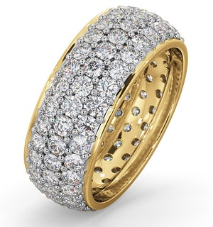 Eternity Ring Sara 18K Gold Diamond 3.00ct H/Si