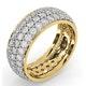 Mens 3ct H/Si Diamond 18K Gold Full Band Ring  IHG55-522JUA - image 2