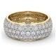 Mens 3ct H/Si Diamond 18K Gold Full Band Ring  IHG55-522JUA - image 3