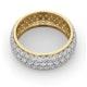 Mens 3ct H/Si Diamond 18K Gold Full Band Ring  IHG55-522JUA - image 4