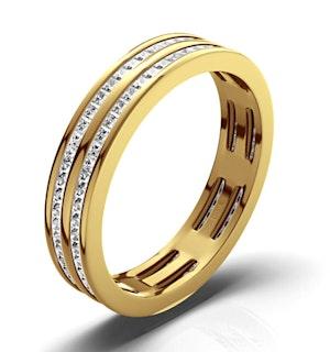 Mens 1ct H/Si Diamond 18K Gold Full Band Ring  IHG43-322JUA