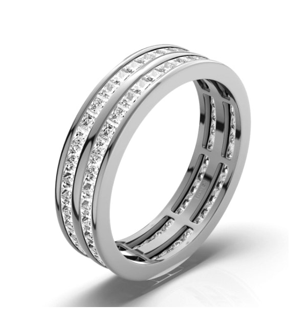 Mens 2ct H/Si Diamond 18K White Gold Full Band Ring  IHG43-422JUY - image 1