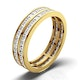 Mens 2ct G/Vs Diamond 18K Gold Full Band Ring  IHG43-422XUA - image 1