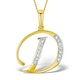 9K Gold Diamond Initial 'D' Necklace 0.05ct - image 1