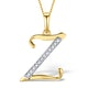 9K Gold Diamond Initial 'Z' Necklace 0.05ct - image 1