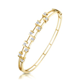 0.70ct Diamond Studded Lattice Style Bracelet in 9K Gold