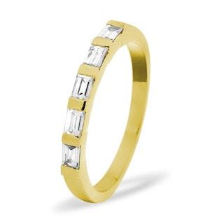 EMERALD CUT 18K Gold Diamond ETERNITY RING 1.00CT G/VS