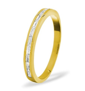 LILY 18K Gold Diamond ETERNITY RING 1.00CT H/SI