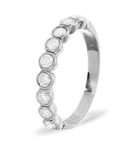 EMILY 18K White Gold Diamond ETERNITY RING 0.50CT G/VS - image 1
