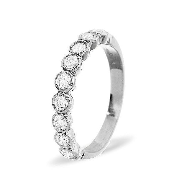 EMILY 18K White Gold Diamond ETERNITY RING 0.50CT G/VS - image 1