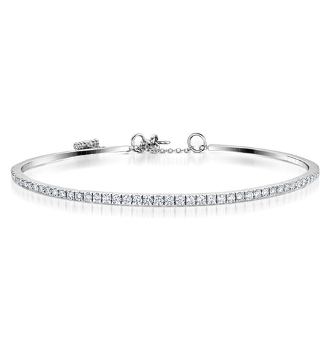 Diamond Bangle 1.75ct Diamond in 18K White Gold - image 1