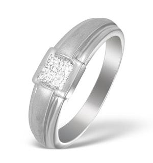 18K White Gold Princess Diamond Ring - N3201