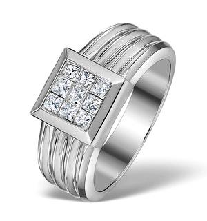 Diamond 0.60ct 18K White Gold Ring - RTC-N3442