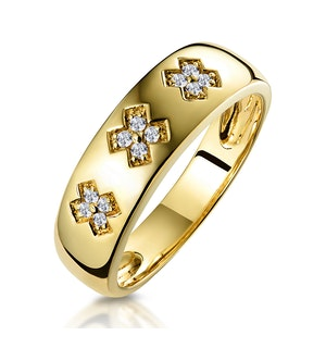 0.10ct Diamond Kiss Design Ring in 18K Gold