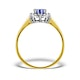 Tanzanite 6 x 4mm And Diamond 18K Gold Ring  FET33-V - image 2