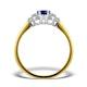 Tanzanite 7 x 5mm And Diamond 18K Gold Ring  N3493 - image 2