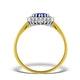 Tanzanite 6 x 4mm And Diamond 18K Gold Ring  FET21-V - image 2