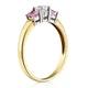 18K Gold Diamond Pink Sapphire Ring 0.25ct - image 3