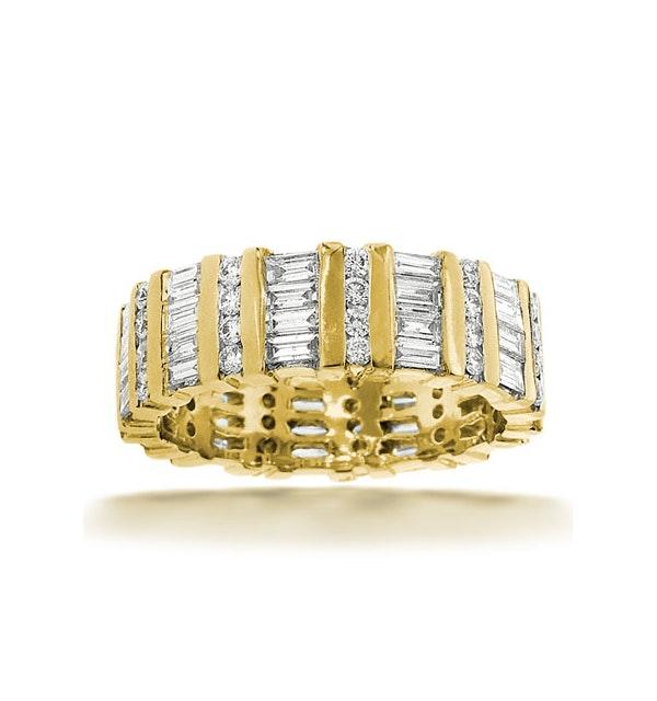 Mens 2ct H/Si Diamond 18K Gold Full Band Ring  IHG48-422JUA - image 1