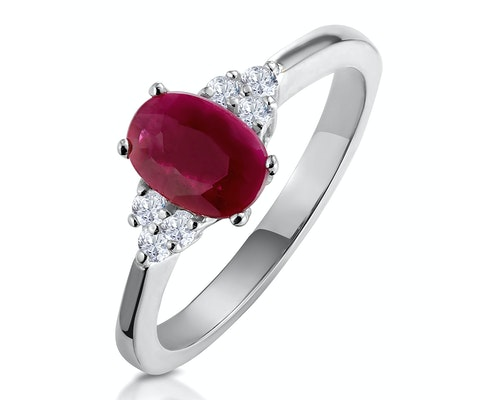 Oval Cut Ruby Rings