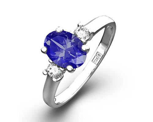 Oval Cut Tanzanite Rings