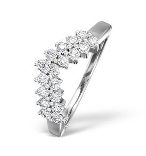 Diamond H/Si 0.45ct 18K White Gold Wishbone Ring