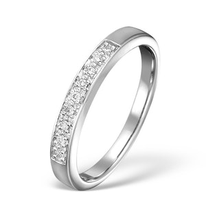 Diamond Wedding Ring 0.05CT Diamond 9K White Gold