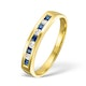 Sapphire 0.20ct And Diamond 18K Gold Ring - image 1