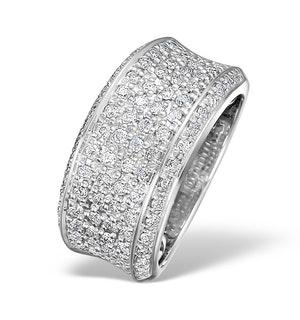 18K White Gold H/Si Diamond Ladies Pave Ring