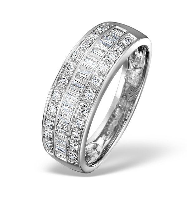 Eternity Ring Baguette Diamond 0.22ct in 9K White Gold - image 1