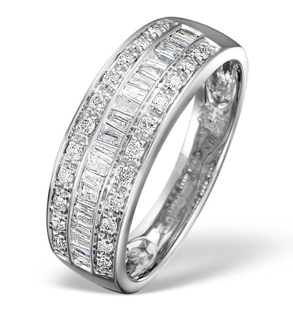 18K White Gold Brilliant H/Si Diamond Ring - image 1