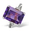 Amethyst 6.40ct And Diamond 9K White Gold Ring - image 1