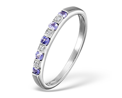 tanzanite eternity rings