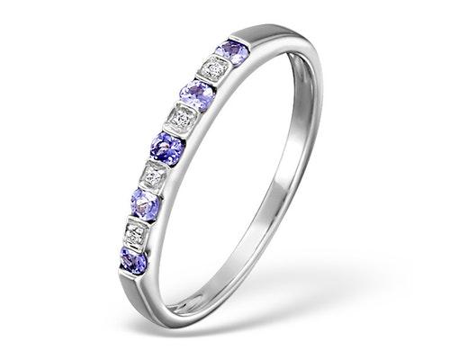 tanzanite eternity rings