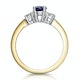 Sapphire 1.00ct And Diamond 18K Gold Ring - image 2