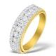 Diamond 1.00ct And 18K Gold Half Eternity Ring - N4495 - image 1