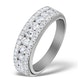 Diamond 1.00ct And Platinum Half Eternity Ring - S3478 - image 1