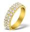 Diamond 1.00ct And 18K Gold Half Eternity Ring - N4497 - image 1