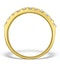 Diamond 1.00ct And 18K Gold Half Eternity Ring - N4497 - image 2